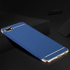 Coque Bumper Luxe Metal et Silicone Etui Housse M02 pour Oppo R17 Neo Bleu