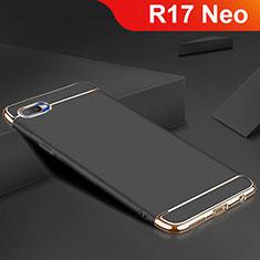 Coque Bumper Luxe Metal et Silicone Etui Housse M02 pour Oppo R17 Neo Noir
