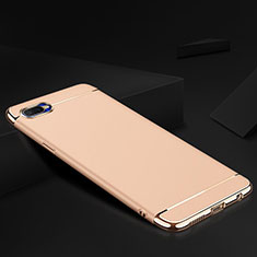 Coque Bumper Luxe Metal et Silicone Etui Housse M02 pour Oppo R17 Neo Or