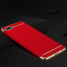 Coque Bumper Luxe Metal et Silicone Etui Housse M02 pour Oppo R17 Neo Rouge