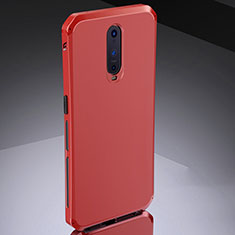 Coque Bumper Luxe Metal et Silicone Etui Housse M02 pour Oppo R17 Pro Rouge
