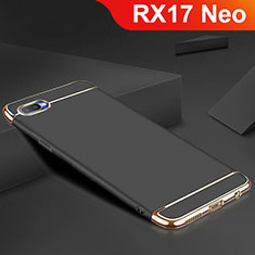 Coque Bumper Luxe Metal et Silicone Etui Housse M02 pour Oppo RX17 Neo Noir