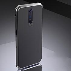 Coque Bumper Luxe Metal et Silicone Etui Housse M02 pour Oppo RX17 Pro Argent