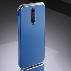 Coque Bumper Luxe Metal et Silicone Etui Housse M02 pour Oppo RX17 Pro Bleu