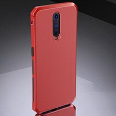 Coque Bumper Luxe Metal et Silicone Etui Housse M02 pour Oppo RX17 Pro Rouge