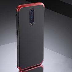 Coque Bumper Luxe Metal et Silicone Etui Housse M02 pour Oppo RX17 Pro Rouge et Noir