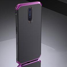 Coque Bumper Luxe Metal et Silicone Etui Housse M02 pour Oppo RX17 Pro Violet
