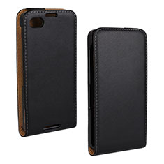 Coque Clapet Portefeuille Cuir pour Blackberry Q10 Noir