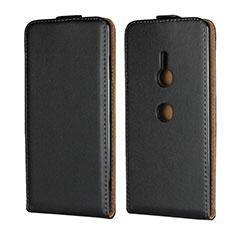Coque Clapet Portefeuille Cuir pour Sony Xperia XZ3 Noir