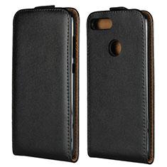 Coque Clapet Portefeuille Cuir V01 pour Huawei Honor 9 Lite Noir