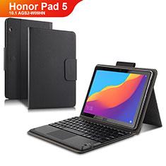 Coque Clapet Portefeuille Livre Cuir avec Clavier pour Huawei Honor Pad 5 10.1 AGS2-W09HN AGS2-AL00HN Noir