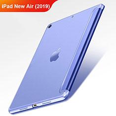 Coque Clapet Portefeuille Livre Cuir L01 pour Apple iPad Air 3 Bleu