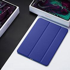 Coque Clapet Portefeuille Livre Cuir L01 pour Apple iPad Pro 12.9 (2018) Bleu
