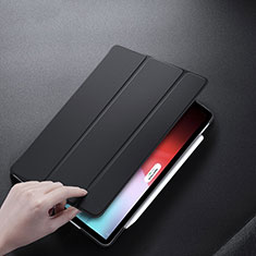 Coque Clapet Portefeuille Livre Cuir L01 pour Apple iPad Pro 12.9 (2018) Noir