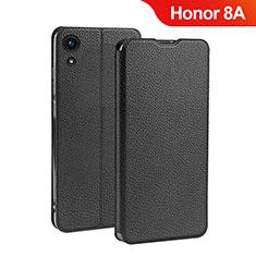 Coque Clapet Portefeuille Livre Cuir L01 pour Huawei Honor 8A Noir