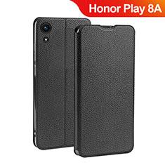 Coque Clapet Portefeuille Livre Cuir L01 pour Huawei Honor Play 8A Noir