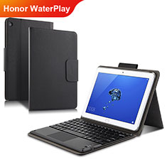 Coque Clapet Portefeuille Livre Cuir L01 pour Huawei Honor WaterPlay 10.1 HDN-W09 Noir