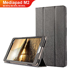 Coque Clapet Portefeuille Livre Cuir L01 pour Huawei Mediapad M2 8 M2-801w M2-803L M2-802L Noir