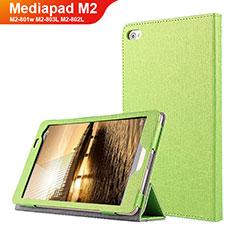 Coque Clapet Portefeuille Livre Cuir L01 pour Huawei Mediapad M2 8 M2-801w M2-803L M2-802L Vert