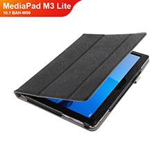 Coque Clapet Portefeuille Livre Cuir L01 pour Huawei MediaPad M3 Lite 10.1 BAH-W09 Noir