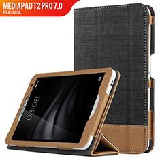 Coque Clapet Portefeuille Livre Cuir L01 pour Huawei MediaPad T2 Pro 7.0 PLE-703L Noir