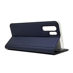 Coque Clapet Portefeuille Livre Cuir L01 pour Huawei P30 Pro Bleu