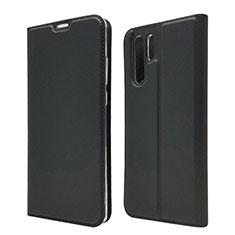 Coque Clapet Portefeuille Livre Cuir L01 pour Huawei P30 Pro Noir