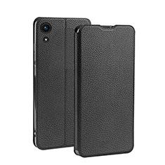 Coque Clapet Portefeuille Livre Cuir L01 pour Huawei Y6 (2019) Noir