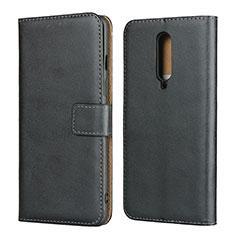 Coque Clapet Portefeuille Livre Cuir L01 pour OnePlus 8 Noir