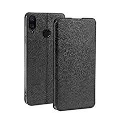 Coque Clapet Portefeuille Livre Cuir L01 pour Xiaomi Redmi 7 Noir