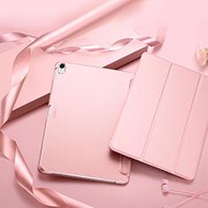 Coque Clapet Portefeuille Livre Cuir L02 pour Apple iPad Pro 11 (2018) Rose