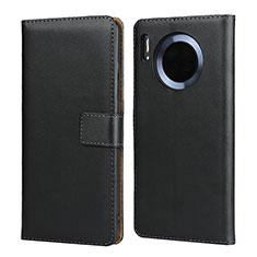 Coque Clapet Portefeuille Livre Cuir L02 pour Huawei Mate 30 Pro Noir