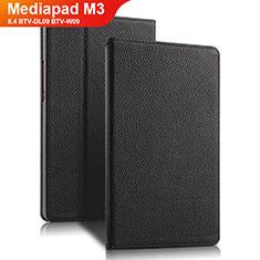 Coque Clapet Portefeuille Livre Cuir L02 pour Huawei Mediapad M3 8.4 BTV-DL09 BTV-W09 Noir