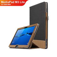 Coque Clapet Portefeuille Livre Cuir L02 pour Huawei MediaPad M3 Lite 10.1 BAH-W09 Noir