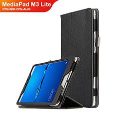 Coque Clapet Portefeuille Livre Cuir L02 pour Huawei MediaPad M3 Lite 8.0 CPN-W09 CPN-AL00 Noir