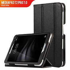 Coque Clapet Portefeuille Livre Cuir L02 pour Huawei MediaPad T2 Pro 7.0 PLE-703L Noir