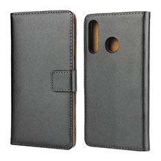Coque Clapet Portefeuille Livre Cuir L02 pour Huawei P30 Lite Noir