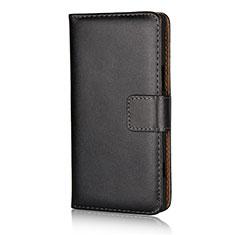 Coque Clapet Portefeuille Livre Cuir L02 pour Sony Xperia XZ1 Compact Noir