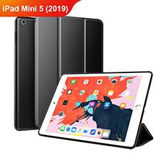 Coque Clapet Portefeuille Livre Cuir L03 pour Apple iPad Mini 5 (2019) Noir