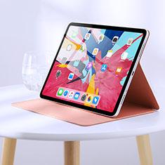 Coque Clapet Portefeuille Livre Cuir L03 pour Apple iPad Pro 11 (2018) Rose