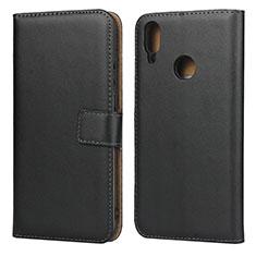 Coque Clapet Portefeuille Livre Cuir L03 pour Huawei Enjoy 9 Noir