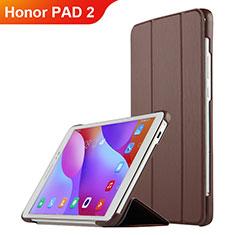 Coque Clapet Portefeuille Livre Cuir L03 pour Huawei Honor Pad 2 Marron
