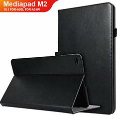 Coque Clapet Portefeuille Livre Cuir L03 pour Huawei MediaPad M2 10.1 FDR-A03L FDR-A01W Noir