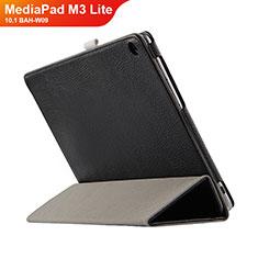 Coque Clapet Portefeuille Livre Cuir L03 pour Huawei MediaPad M3 Lite 10.1 BAH-W09 Noir