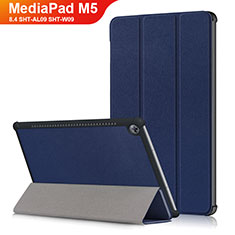 Coque Clapet Portefeuille Livre Cuir L03 pour Huawei MediaPad M5 8.4 SHT-AL09 SHT-W09 Bleu