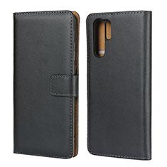 Coque Clapet Portefeuille Livre Cuir L03 pour Huawei P30 Pro Noir