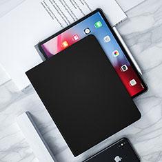 Coque Clapet Portefeuille Livre Cuir L04 pour Apple iPad Pro 12.9 (2018) Noir