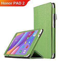 Coque Clapet Portefeuille Livre Cuir L04 pour Huawei Honor Pad 2 Vert