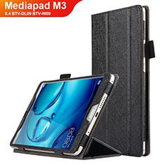 Coque Clapet Portefeuille Livre Cuir L04 pour Huawei Mediapad M3 8.4 BTV-DL09 BTV-W09 Noir