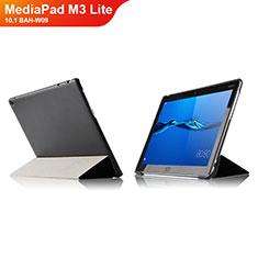 Coque Clapet Portefeuille Livre Cuir L04 pour Huawei MediaPad M3 Lite 10.1 BAH-W09 Noir